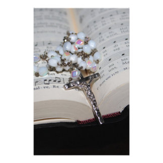 rosary music book stationery