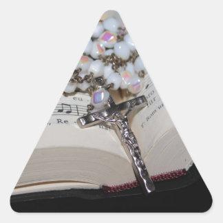 rosary music book triangle sticker
