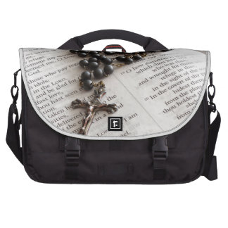 Rosary On Bible Laptop Bags