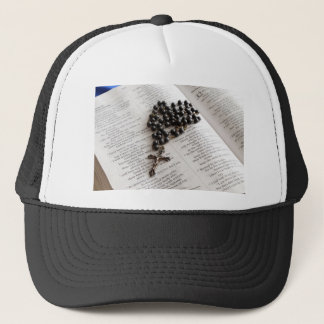 Rosary On Bible Trucker Hat