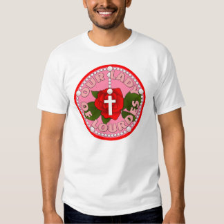 Rosary Our Lady of Lourdes Tee Shirt