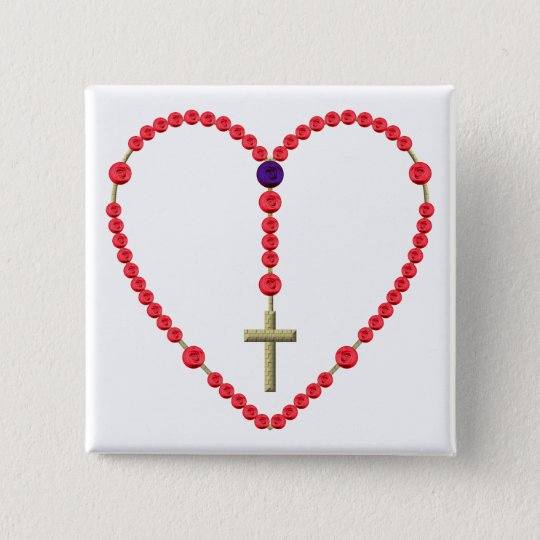 Rosary (Red and Blue Roses) Button