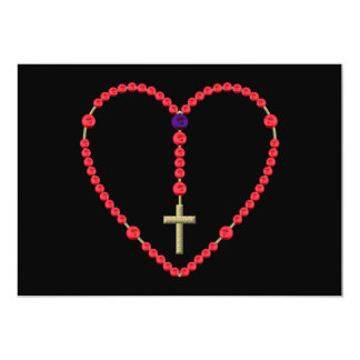 Rosary (Red and Blue Roses) Card