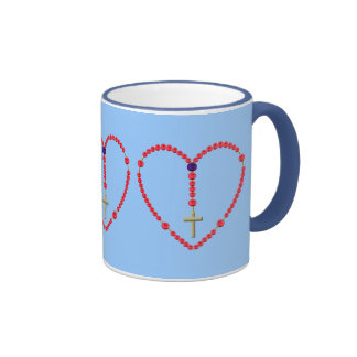 Rosary (Red and Blue Roses) Mug