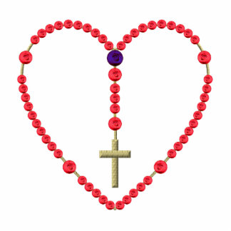 Rosary (Red and Blue Roses) Standing Photo Sculpture