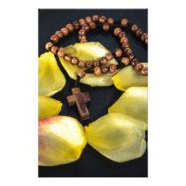 rosary stationery