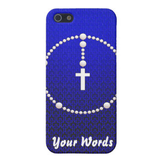 Rosary with Cross Pattern Case For iPhone SE/5/5s