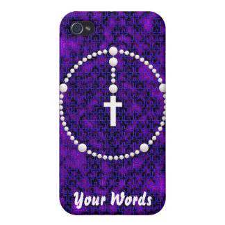 Rosary with Cross Pattern Covers For iPhone 4