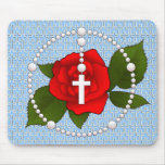 Rosary with Cross Pattern Mouse Pads