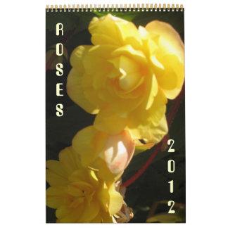 Rosas 2012 calendarios de pared