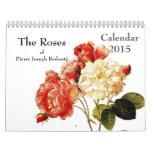 Rosas 2015 de Redouté Calendario