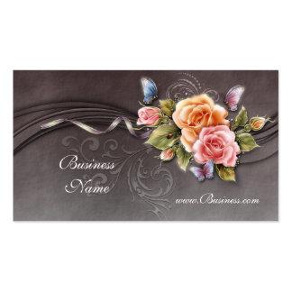 Rosas 2 del rosa del vintage de la tarjeta del per tarjetas de visita