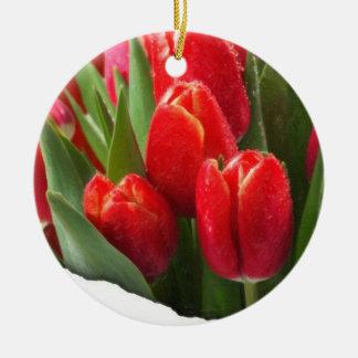 rosas 4 de la tarjeta del día de San Valentín Adorno De Navidad
