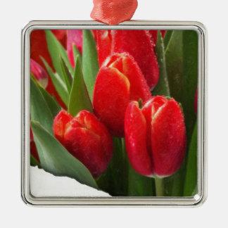 rosas 4 de la tarjeta del día de San Valentín Ornamento Para Arbol De Navidad