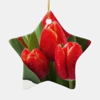 rosas 4 de la tarjeta del día de San Valentín Adornos De Navidad