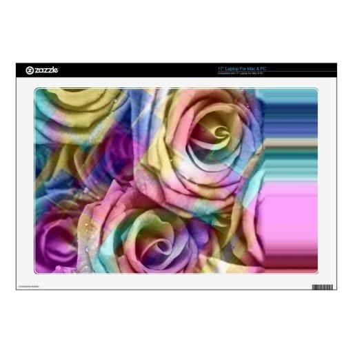 rosas a cuadros portátil 43,2cm skins