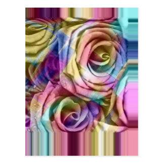 rosas a cuadros postales