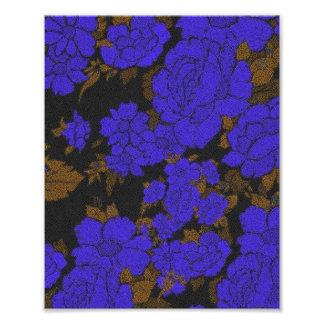 Rosas abstractos azules únicos fotografía
