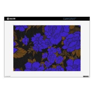 Rosas abstractos azules únicos skins para 38,1cm portátil