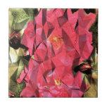 Rosas abstractos cubistas azulejos cerámicos