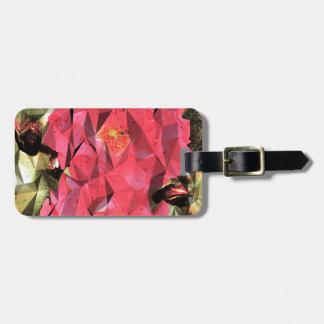 Rosas abstractos cubistas etiquetas para maletas