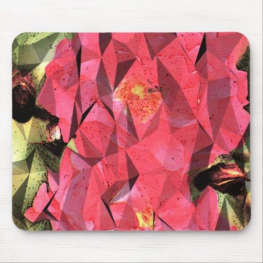 Rosas abstractos cubistas tapetes de ratón