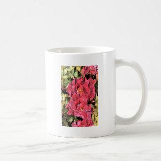 Rosas abstractos cubistas taza de café