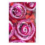Rosas abstractos postales