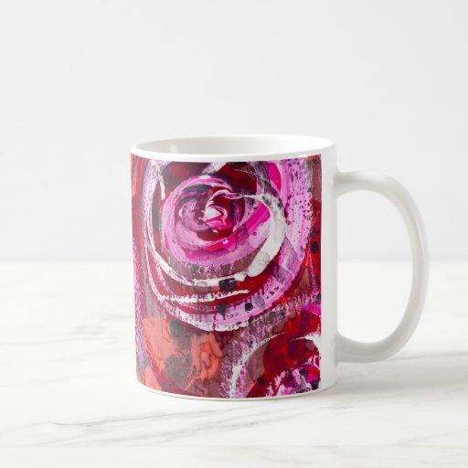 Rosas abstractos tazas