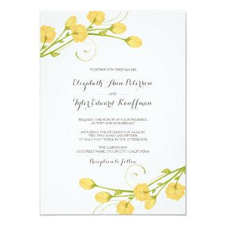 Rosas amarillos del jardín - invitación del boda