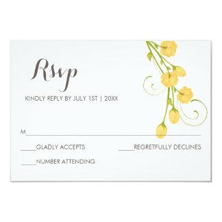 """Rosas amarillos del jardín - tarjeta de RSVP Invitación 3.5"""" X 5"""""""