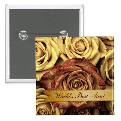 Rosas amarillos del vintage elegante hermoso con l pins