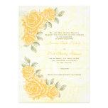 Rosas amarillos del vintage que casan la invitació