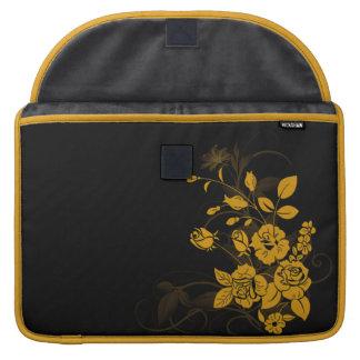 Rosas amarillos funda macbook pro