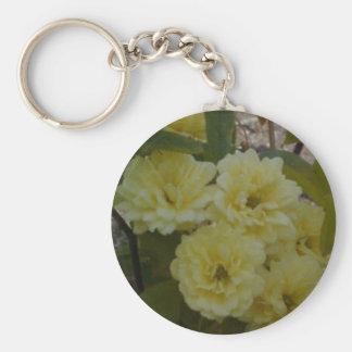 Rosas amarillos llavero redondo tipo pin