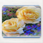Rosas amarillos Mousepad Tapete De Ratón