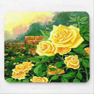 Rosas amarillos Mousepad Tapetes De Raton