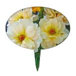 Rosas amarillos palillos de tarta