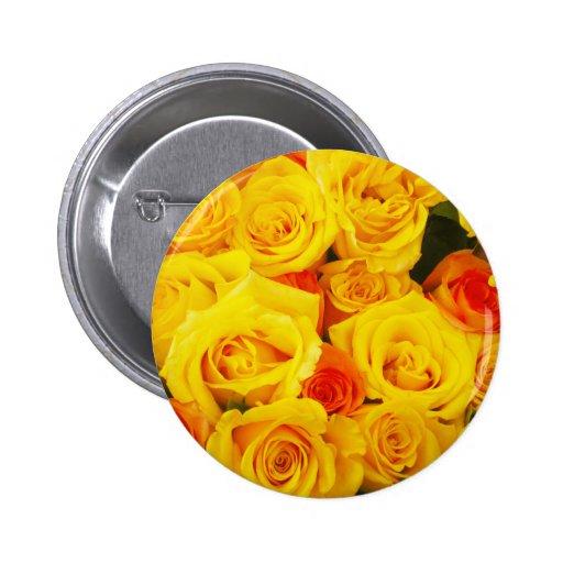 Rosas amarillos París Pin Redondo 5 Cm