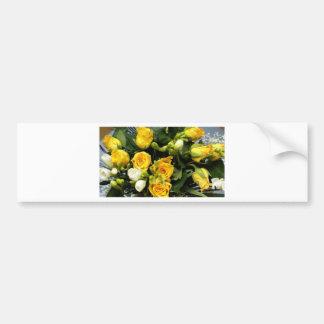 Rosas amarillos pegatina para auto