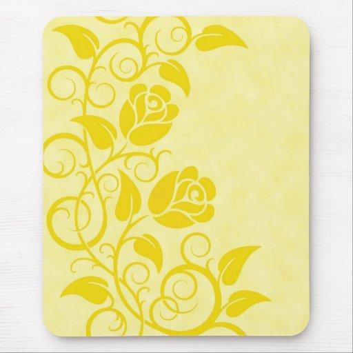 Rosas amarillos que remolinan tapetes de ratones