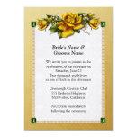 Rosas amarillos y esmeraldas que casan la comunicado