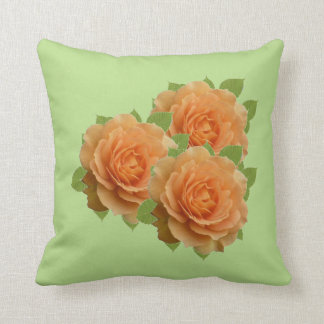 Rosas anaranjados cojín decorativo