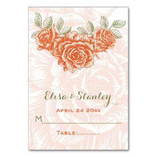 Rosas anaranjados del vintage que casan la tarjeta