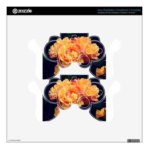 Rosas anaranjados mando PS3 skin