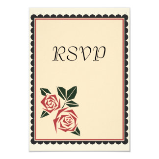 Rosas angulares invitación 8,9 x 12,7 cm