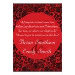 Rosas artísticos blancos negros rojos que casan in invitacion personal
