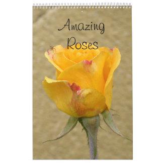 Rosas asombrosos calendarios de pared