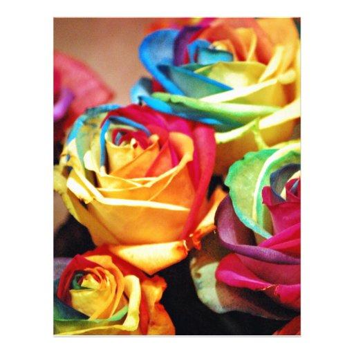 "Rosas atractivos del colourfull folleto 8.5"" x 11"""