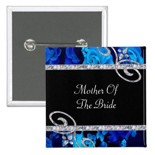 Rosas azules brillantes y el casarse de los remoli pins